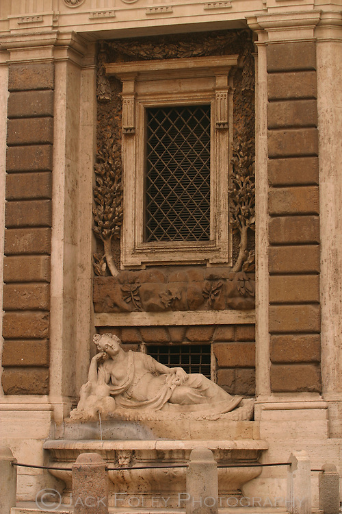 Goddess Diana, one ofthe Quarttro Fontane, at the corner of the four fountains, Rome, Italy