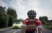 World Champion, European Champion, Slovak Champion & Eneco points classification leader (red jersey) Peter Sagan (SVK/Tinkoff) along the way<br /> <br /> 12th Eneco Tour 2016 (UCI World Tour)<br /> Stage 7: Bornem › Geraardsbergen (198km)