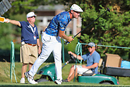 Bethesda, MD - July 1, 2017: Bryson DeChambeau reacts to his poor tee shot during Round 3 of professional play at the Quicken Loans National Tournament at TPC Potomac in Bethesda, MD, July 1, 2017.  (Photo by Elliott Brown/Media Images International)