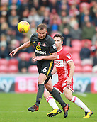 5th November 2017, Riverside Stadium, Middlesbrough, England; EFL Championship football, Middlesbrough versus Sunderland; Lee Cattermole of Sunderland heads the ball with Jonathan Howson of Middlesbrough nearby