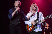HOLLYWOOD, FL - AUGUST 20: (L-R) Dennis DeYoung and Jimmy Leahey perform the music of Styx at Hard Rock Live! in the Seminole Hard Rock Hotel & Casino on August 20, 2012 in Hollywood, Florida. © mpi04/MediaPunch Inc /NortePhoto.com<br />