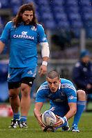 Tommaso Allan Italia<br /> Roma 23-11-2013, Stadio Olimpico. Cariparma Rugby Test Match - Italia vs Argentina - Foto Antonietta BaldassarreInsidefoto