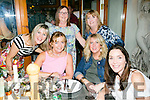 Maureen Fleming celebrating her birthday with friends  and family on Saturday night at Bella Bia's  l-r  Maureen Fleming, Eileen Keane, Trish Corcoran, Marie O'Brien, Julie O'Sullivan and Teresa O'Brien