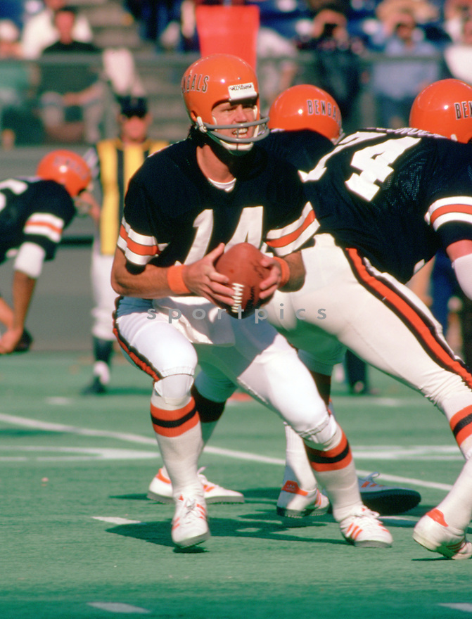Cincinnati Bengals Ken Anderson (15) during a game from his 1977 season with the Cincinnati Bengals. Ken Anderson  played for 16 years, all with the Cincinnati Bengals, was a 4-time Pro Bowler and the 1981 NFL MVP.(SportPics)