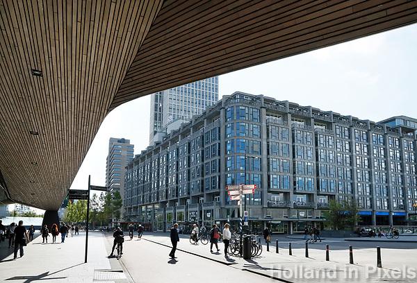 Nederland Rotterdam 2017. Het Groot Handelsgebouw. Het Groot Handelsgebouw, pal naast Rotterdam Centraal Station, is het grootste bedrijfsverzamelgebouw van Nederland. Foto Berlinda van Dam / Hollandse Hoogte