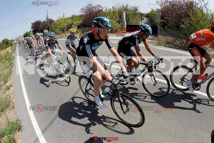 Christopher Froome during the stage of La Vuelta 2012 between Logroño and Logroño.August 22,2012. (ALTERPHOTOS/Paola Otero) /NortePhoto.com<br /> <br /> **SOLO*VENTA*EN*MEXICO**<br /> **CREDITO*OBLIGATORIO**<br /> *No*Venta*A*Terceros*<br /> *No*Sale*So*third*<br /> *** No Se Permite Hacer Archivo**<br /> *No*Sale*So*third*