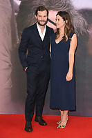 LONDON, UK. October 20, 2018: Jamie Dornan &amp; Amelia Warner at the London Film Festival screening of &quot;A Private War&quot; at the Cineworld Leicester Square, London.<br /> Picture: Steve Vas/Featureflash