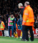 Atletico's Diego Costa celebrates his sides opening goal during the Europa League Semi Final 1st Leg, match at the Emirates Stadium, London. Picture date: 26th April 2018. Picture credit should read: David Klein/Sportimage