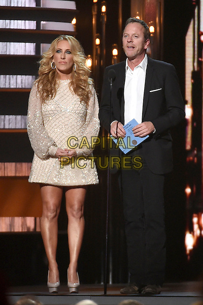 4 November 2015 - Nashville, Tennessee - Lee Ann Womack, Kiefer Sutherland. 49th CMA Awards, Country Music's Biggest Night, held at Bridgestone Arena. <br /> CAP/ADM/LF<br /> &copy;LF/ADM/Capital Pictures