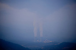 The Nuclear Power Cofrentes in Cofrentes is seen during forest Fire in Valencia, on July 02, 2012, (c)  Pedro ARMESTRE