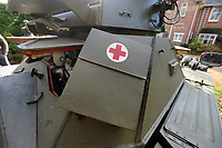 BNPS.co.uk (01202 558833)<br /> Pic: ZacharyCulpin/BNPS<br /> <br /> Medical kit...<br /> <br /> Bullet proof bargain -  This Cold War era British 'little tank' is being touted as a armour plated investment with ultra low insurance, and no VAT,  road tax or MoT.<br /> <br /> The Ferret scout car was a reconnaissance vehicle used by the British Army in Germany during the height of the Cold War.<br /> <br /> This one was decommissioned in the 1990s and has been owned in recent years by a private collector.<br /> <br /> It is now being sold at auction for a pre-sale estimate of between £15,000 to £20,000.<br /> <br /> But after the initial outlay, the vehicle is said to be incredibly cheap to run.