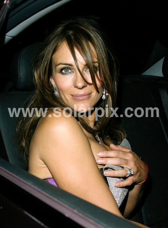 **ALL ROUND PICTURES FROM SOLARPIX.COM**.**WORLDWIDE SYNDICATION RIGHTS**.Liz Hurley arrives at the Th ePucci party tonight in Florence Italy accumpanied by Designer friend Mathew Williamson,Kylie Minogue,Price & princess Michael of Kent.JOB REF: 3955         PRS/TMY        DATE: 20.5.07.**MUST CREDIT SOLARPIX.COM OR DOUBLE FEE WILL BE CHARGED* *UNDER NO CIRCUMSTANCES IS THIS IMAGE TO BE REPRODUCED FOR ANY ONLINE EDITION WITHOUT PRIOR PERMISSION*