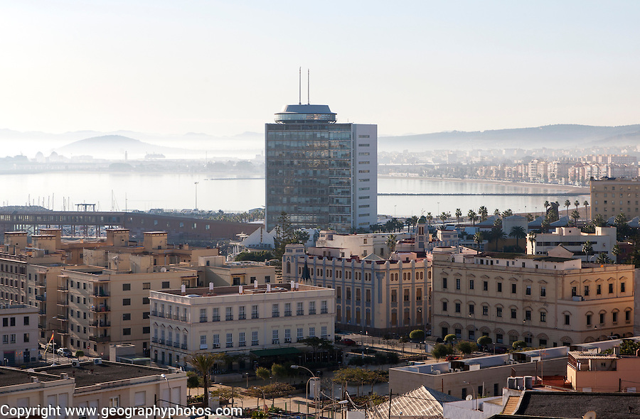 Morning view over the city Melilla autonomous city state Spanish territory in north Africa, Spain