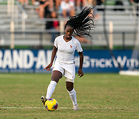 LAKEWOOD RANCH, FL - DECEMBER 11: Grace Kazadi #12 of France dribbles during a game between France and USWNT U-20 Red at Premier Sports Campus on December 11, 2019 in Lakewood Ranch, Florida.