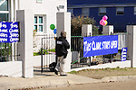 "1/22/13/  Jackson MS -Pictured is security patrolling the property outside the Jackson Women's Clinic owned by Diane Derzis. Governor Bryant is attempting to close the clinic by making strict laws for the clinic and having the doctors have admitting privileges at local hospitals. The clinic is unable to comply with State law and is fighting to stay open. Governor Phil Bryant joins the PLAN (Pro Life America Network) and speaks at the Mississippi State capital in support of his Pro Life agenda on the 40th Anniversary of Roe-v-Wade. Governor Bryant asked  for people to ""pray for the unborn babies"" and Bryant is pushing hard to close the States only operating Abortion Clinic. Photo© Suzi Altman"