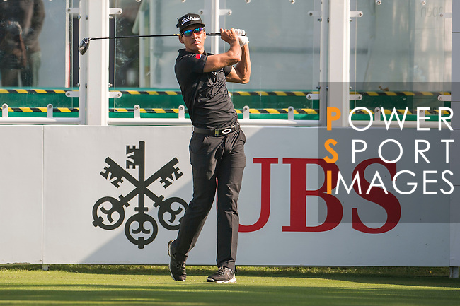 Rafael Cabrera Bello of Spain tees off the first hole during the 58th UBS Hong Kong Open as part of the European Tour on 08 December 2016, at the Hong Kong Golf Club, Fanling, Hong Kong, China. Photo by Marcio Rodrigo Machado / Power Sport Images