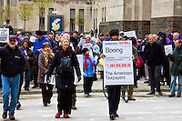 Protest Against Tax-Dodging Corporations Downtown Chicago, Illinois April, 18, 2011