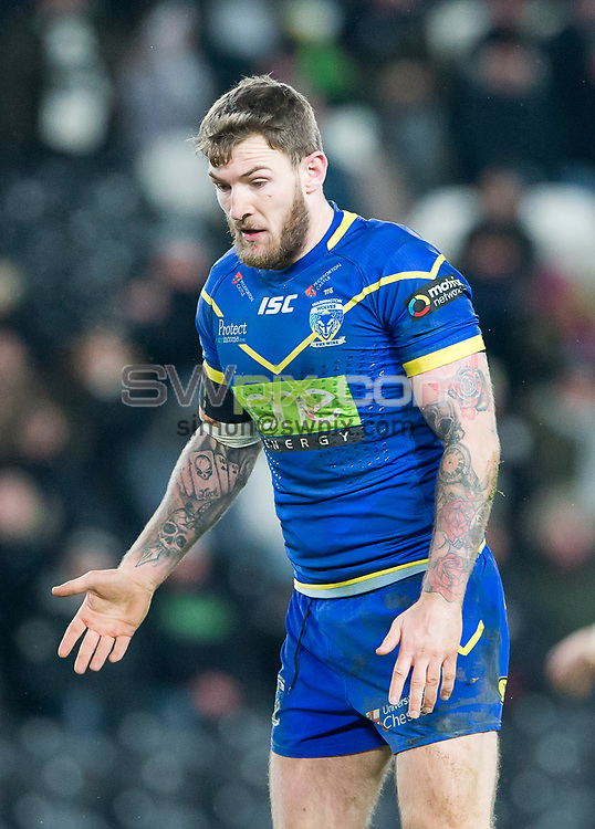 Picture by Allan McKenzie/SWpix.com - 02/03/2018 - Rugby League - Betfred Super League - Hull FC v Warrington Wolves - KC Stadium, Kingston upon Hull, England - Daryl Clark.