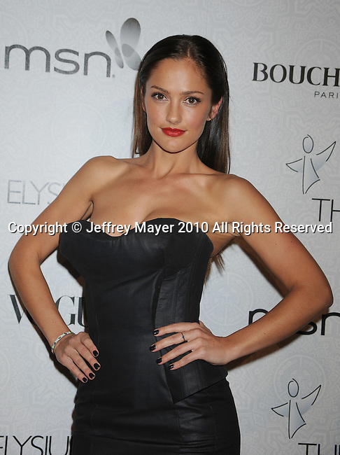 "BEVERLY HILLS, CA. - January 16: Minka Kelly arrives at The Art of Elysium's 3rd Annual Black Tie Charity Gala ""Heaven"" on January 16, 2010 in Beverly Hills, California."
