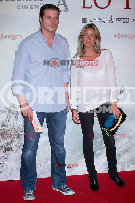 08.10.2012. Celebrities attend the premiere of Kinepolis Cinema in Madrid of the movie 'The Impossible'. Directed by Juan Antonio Bayona and starring by  Naomi Watts and Tom Holland.(Alterphotos/Marta Gonzalez) /NortePhoto