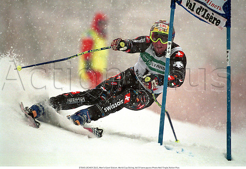 STEVE LOCHER (SUI), Men's Giant Slalom. World Cup Skiing, Val D'Isere 991211 Photo:Neil Tingle/Action Plus...1999.winter sport.winter sports.wintersport.wintersports.alpine.ski.skier.man