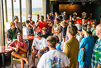 North Shore, Oahu, Hawaii (Tuesday, November 19, 2013) &ndash; BIG WAVE SAFETY SESSIONS, In Memory of Sion Milosky:<br /> Hosted by big wave riders Brian Keaulana, Kohl Christensen &amp; Danilo Couto.<br /> The 2nd annual Big Wave Safety Sessions took place today  with opportunities for public interaction and ocean safety education. Held in memory of Sion Milosky, a big wave rider from the North Shore who tragically lost his life riding big waves at California's Mavericks, these sessions see the world's elite big wave riders gathering to refresh their safety and rescue skills, breath-holding techniques, CPR training, and also analyze critical events that have taken place during big wave riding sessions over the past 12 months. The public are be able watch on-water skills and learn about key ocean safety lessons from some of the best in the field.<br />  Photo: joliphotos.com