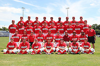 Batavia Muckdogs team photo at Dwyer Stadium in Batavia, New York July 10, 2010.   Front Row:  John Gast, Houston Summers, Matt Valaika, Adam Melker, Mike O'Neil, Yunier Castillo, Pat Biserta.  Second Row:  Nick McCully, Joey Bergman, Eric Bauer, Roger LaFrancois, Dann Bilardello, Ace Adams, Eric Schwager, Audry Perez, Jose Rada, Tony Pecora.  Third Row:  Kevin Siegrist, LaCurtis Mayes, Colin Walsh, Travis Lawler, Christopher Corigan, Chase Reid, Nick Longmire, Geoffrey Klein, Matt North, Jon Edwards.  Fourth Row:  Keith Butler, David Kington, Andrew Moss, Jonathan Rodriguez, Victor Sanchez, Rosario Rodriguez, Justin Edwards, Anthony Ferrara, Zach Russell.  Photo By Mike Janes/Four Seam Images
