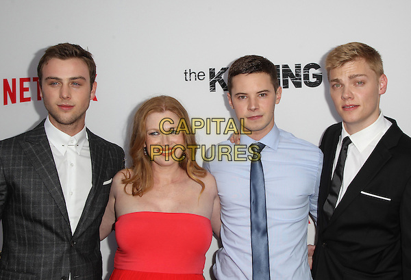 14 July 2014 - Hollywood, California - Sterling Beaumon, Mireille Enos, Tyler Ross, Levi Meaden. Premiere Of Netflix's &quot;The Killing&quot; Season 4 Held at The ArcLight Cinemas. <br /> CAP/ADM/FS<br /> &copy;Faye Sadou/AdMedia/Capital Pictures