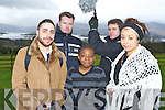 London actor Moncef Mansun left who is originally from Aghadoe acting in a the KASI movie Barzakh which was filmed in Killarney over the weekend l-r: Moncef Mansun, Justin McCarthy, Hakeem Yekini, Stuart Porteous and Grace Odumosu