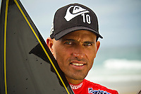 SNAPPER ROCKS, Queensland/Australia (Wednesday, March 9, 2011) - Reigning 10-time ASP World Champion Kelly Slater (USA), 39,  secured his 46th elite tour win today, defeating defending event champion Taj Burrow (AUS), 32, to claim the Quiksilver Pro Gold Coast .. .The opening event of the 2011 ASP World Title season, the Quiksilver Pro Gold Coast showcased the incredible depth of talent in the current ASP Top 34, but the victory went to the iconic Floridian...Slater sprung to life on the final day of competition, posting his top results en route to the Final against Burrow. Slater slowly built upon his scores in his bout against the Australian and his refined strategy proved to be enough to earn the Floridian the 2011 Quiksilver Pro Gold Coast crown.. Burrow, who was arguably the form surfer throughout the entirety of the event, went on an absolute rampage on the final day of competition to oust American Brett Simpson (USA), 26, in the Quarterfinals and dangerous South African Jordy Smith (ZAF), 23, in the Semifinals, but fell just short of the score needed to surpass Slater for the victory in the back-half of their duel, finishing runner-up overall.. .Photo: joliphotos.com