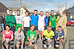 SENIOR: Just finished the Senior Social, Ballyduff, St Patricks Day 10K race on Saturday. Front l-r: jayne Keaney, Nora Barry (1st lady home), Rebecca Kemp, Ger Power and Donie OSullivan. Back l-r: Michael Stack, Maurice Sheehy, John OMahony, Seamus Falvey, Pat Sheehy, Paudie Dineen, Willie Guiney (1st male home), and Tomas Sheehy who presented the prizes...