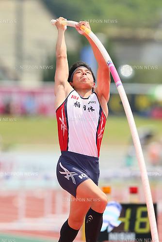 Takuma Arai, JULY 30, 2015 - Athletics : 2015 All-Japan Inter High School Championships, Men's Pole Vault Final at Kimiidera Athletic Stadium, Wakayama, Japan. (Photo by YUTAKA/AFLO SPORT)