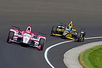 Verizon IndyCar Series<br /> Indianapolis 500 Carb Day<br /> Indianapolis Motor Speedway, Indianapolis, IN USA<br /> Friday 26 May 2017<br /> Pippa Mann, Dale Coyne Racing Honda, Sage Karam, Dreyer &amp; Reinbold Racing Chevrolet<br /> World Copyright: F. Peirce Williams