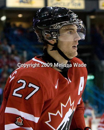 Alex Pietrangelo (Canada - 27) - Team Canada defeated Team Latvia 16-0 on Saturday, December 26, 2009, at the Credit Union Centre in Saskatoon, Saskatchewan during the 2010 World Juniors tournament.