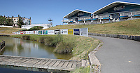 View of the grandstands behind the 18th during the preview days of the 2015 Alstom Open de France, played at Le Golf National, Saint-Quentin-En-Yvelines, Paris, France. /30/06/2015/. Picture: Golffile | David Lloyd<br /> <br /> All photos usage must carry mandatory copyright credit (&copy; Golffile | David Lloyd)