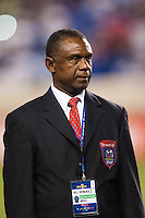 FHF delegation head Pierre Andre Mirville during a CONCACAF Gold Cup group B match at Red Bull Arena in Harrison, NJ, on July 8, 2013.