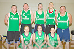 The St Brendans team, Tralee, who competed in the Masters Basketball Tournament in the Killarney Sports centre on Saturday were Katie Costello, Laura Griffin, Claire O'Sullivan, Shane O'Brien, Noel McCoy, Stephen O'Sullivan, Maurice O'Sullivan and Charles O'Sullivan.