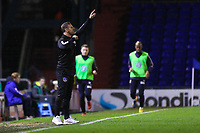 Oldham Athletic's manager Richie Wellens shouts instructions to his team from the dug-out during the Sky Bet League 1 match between Oldham Athletic and AFC Wimbledon at Boundary Park, Oldham, England on 21 November 2017. Photo by Juel Miah/PRiME Media Images