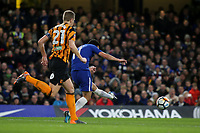 Pedro scores Chelsea's second goal during Chelsea vs Hull City, Emirates FA Cup Football at Stamford Bridge on 16th February 2018