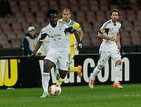 Wilfried Bony<br /> <br />  UEFA Europa League round of 32 second  leg match, betweenAC  Napoli  and Swansea City   at San Paolo stadium in Naples, Feburary 27 , 2014