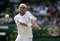 3-7-06,England, London, Wimbledon, forth round match, Baghdatis