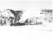 C&amp;TS #487 K-36 and rotary snow plow OM at Lobato.<br /> C&amp;TS  Lobato, NM  Taken by Payne, Andy M. - 2/2/1975