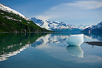 Glacier melt in the fjords of the Chugach Mountains, Alaska