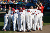 South Carolina prepares for Game 14 of the NCAA Division One Men's College World Series on June 26th, 2010 at Johnny Rosenblatt Stadium in Omaha, Nebraska.  (Photo by Andrew Woolley / Four Seam Images)