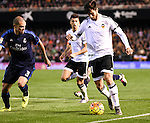 Valencia's Andre Gomes and Real Madrid's Pepe during La Liga match. January 3, 2016. (ALTERPHOTOS/Javier Comos)