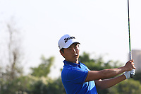 Daniel Im (USA) in action on the 6th during Round 1 of the Hero Indian Open at the DLF Golf and Country Club on Thursday 8th March 2018.<br /> Picture:  Thos Caffrey / www.golffile.ie<br /> <br /> All photo usage must carry mandatory copyright credit (&copy; Golffile | Thos Caffrey)