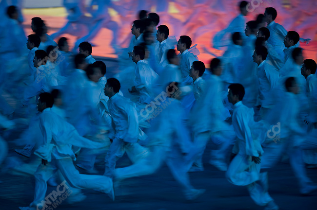 Opening ceremonies of the Summer Olympics, National Stadium, Beijing, China, August 8, 2008