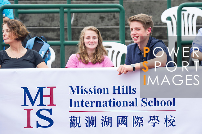 Spectators during the press conference for the opening of Boris Becker Tennis Academy at Mission Hills Resort on 19 March 2016, in Shenzhen, China. Photo by Lucas Schifres / Power Sport Images