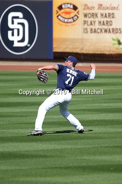 Hunter Renfroe - San Diego Padres 2016 spring training (Bill Mitchell)