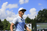 Thorbjorn Olesen (DEN) finishes on the 18th green during Saturday's Round 3 of the 2017 PGA Championship held at Quail Hollow Golf Club, Charlotte, North Carolina, USA. 12th August 2017.<br /> Picture: Eoin Clarke | Golffile<br /> <br /> <br /> All photos usage must carry mandatory copyright credit (&copy; Golffile | Eoin Clarke)